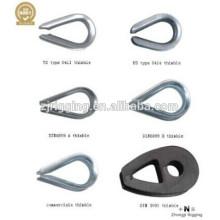 dedal são construídos de alta qualidade acessório de cabo de aço, dedal de corda de fio