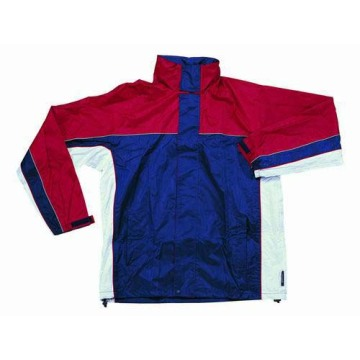 Yj-1016 Polyester PVC Lined Waterproof Rain Jacket with Hood