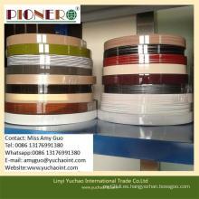 Bandas de borde de PVC de alta calidad ambientalmente brillantes