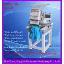 2017 Top Quality Computer Embroidery Machine / Single Head 15 Color Multi Function for Garment Flat Hat Embroidery