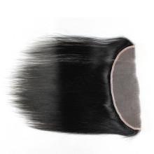 Menschenhaar brasilianische Spitze Frontal Schließung 13 x 4 mit glattem Haar frei Teil gebleichte Knoten jungfräulichen Körper Welle Spitze Frontal