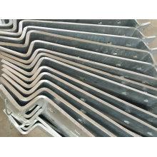 Pieza externa galvanizada INMERSIÓN caliente de la escalera del OEM para el uso constructivo