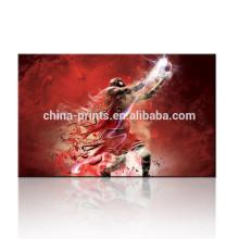 Arte de la pared de la lona de la impresión de Digitaces / cuadros de los cuadros / Decoración de la sala del baloncesto Lona estirada
