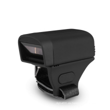 Escáner portátil de código de barras Bluetooth 1D / 2D con anillo de dedo