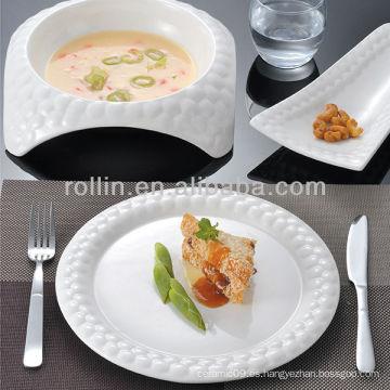Serie del cubo del agua serie china fina de la porcelana y de cerámica, vajilla, placas fijadas