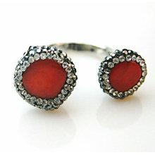 Moda Pedra Natural Pedra Gemstone Anel Cristal Anéis Jóias Judeu