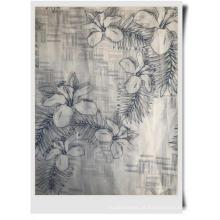 tecido de algodão rami estampado para roupas