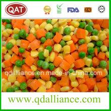 Verduras mixtas congeladas con guisantes