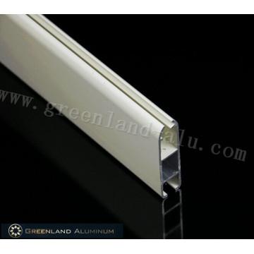 Riel inferior con revestimiento de polvo de persiana enrollable de aluminio