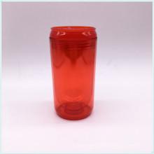 BPA Taza de café gratis PP con tapa de silicona Marca personalizada Prnted taza de café de plástico