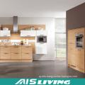 Soild Wood Nature Colour Kitchen Cabinets Furniture (AIS-K294)