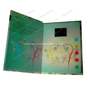 Brochura de vídeo, cartões de vídeo, livreto de vídeo