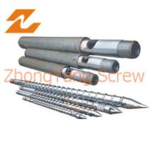Barril de Bimetalic tornillo para Film soplado HDPE LDPE de máquina
