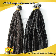 New product human hair i tip braid hair extensions for fashion woman