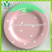 Vajilla al por mayor de los niños Placa decorativa de cerámica