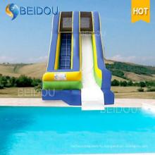 Популярные дешевые надувные водные горки гигантских взрослых надувные слайд