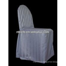 Couverture de chaise de conception Stripe, couverture de chaise satin, couverture de chaise de mariage