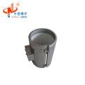 Ceramic band heater with extruder screw barrel