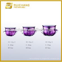 Tarro de crema de acrílico 15g / 30g / 50g, tarro de crema de acrílico de la forma del diamante