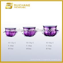 15g / 30g / 50g à base de crème acrylique, jarre en crème acrylique en forme de diamant