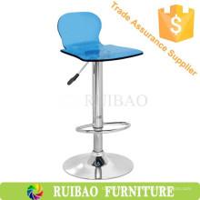 Bar Stool High Chair Peças de placas giratórias acrílicas Barstool Bar Furniture