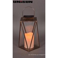 Decoração de Natal Light Glass Craft com corda de cobre LED Light for Wall Art (17110)