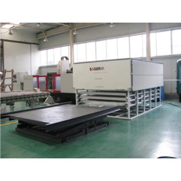Máquina de processamento de vidro inteligente de controle PLC