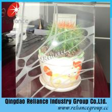Clear Decorative Glass 4mm/5mm/6mm / Designed Glass / Silk Screen Glass / Printed Glass / Acid Glass