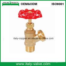 Válvula de drenaje de la caldera de cobre amarillo (AV4042)