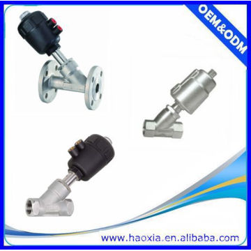 Two-way Double Actuator Piston-Operated Angle Seat Valve With Plastic Head