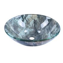Double Layer Texture Glass Wash Basin Cobblestone