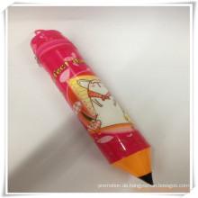 Kleine Bleistift-Form-Bleistift-Tasche / Fall-Set für die Förderung