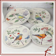 s/4 bird design ceramic dinner plate