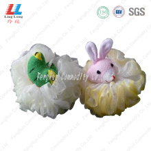Animal fizzy attractive bath sponge