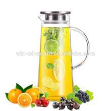 Presente de compras on-line elegante jarro de água de vidro com tampa