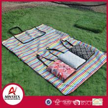Estilo de bolsa 100% algodão cobertor de piquenique ao ar livre impermeável