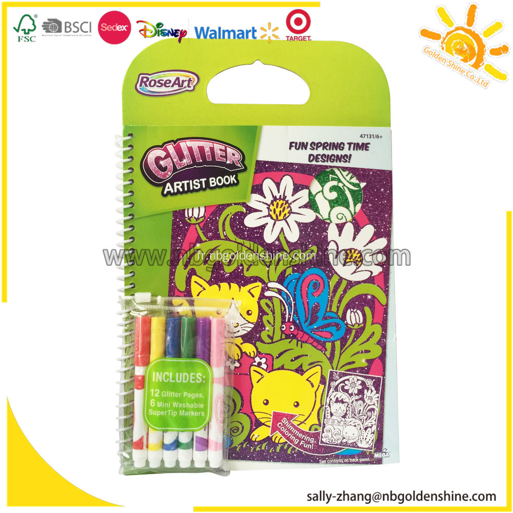 RoseArt Glitter Artiste Coloring Book
