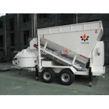 Pequeño mezclador de hormigón móvil equipo de dosificación perfecto sistema de pesaje, 20-25m3 / h