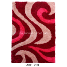 1200D Silk Shaggy With Design