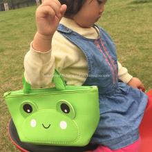 Sac à dos portatif vert grenouille pour bébé
