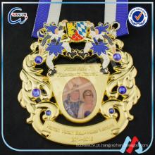 Lembrança de casamento alemão medalha de diamante