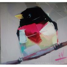 Peinture à l'huile d'oiseau