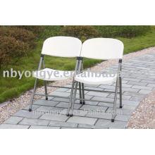 Chaise pliante en métal extérieur