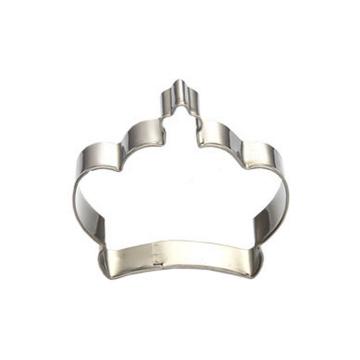 cortador de galletas en forma de corona de acero inoxidable