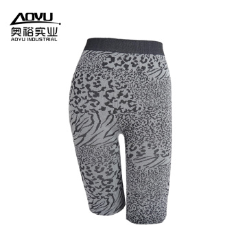 Custom Black Leopard Seamless Women Yoga Pants