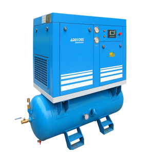 Horizontal 250L Tank Electric Rotary Air Compressor