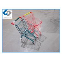 Bunte Mini-Einkaufslaufkatze mit Metallrahmen