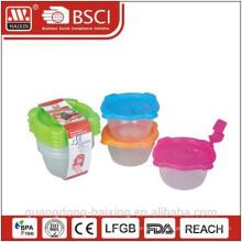 Comida de microondas plástico recipiente 0.14L(6pc)