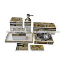 Oito pedaço define Amarelo conjuntos de banheiro de poltrona de chifre de imitação