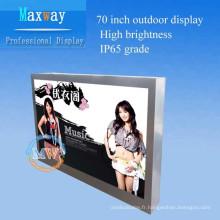 grand affichage extérieur d'affichage à cristaux liquides de 70 pouces de catégorie industrielle pour la publicité